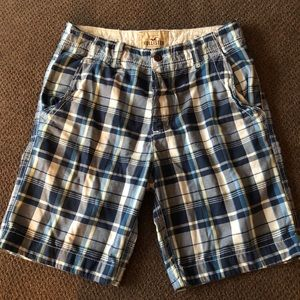 Men's Hollister Blue Plaid Shorts